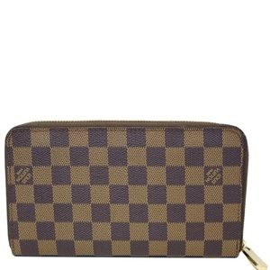 LOUIS VUITTON ZIPPY ORGANIZER DAMIER EBENE WALLET